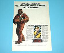 STAR WARS CLIPPER MAGAZINE ADVERT ROTJ 1983 DONALD DUCK HOLLAND