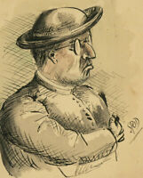 """Set of Four Early 20th Century Pen and Ink Drawings - A """"Brown"""" Study"""