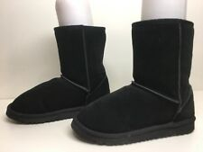 #1A WOMENS INSPIRED WINTER SUEDE BLACK BOOTS SIZE 9