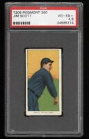 1909-11 T206 Jim Scott Piedmont 350 Chicago PSA 4.5 VG - EX +