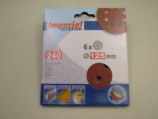 Sanding discs hook&loop random orbit sander 125mm pack 6, 240 grit,European made