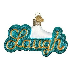 Old World Christmas 36212 Glass Blown Laugh Ornament