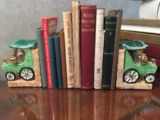 Vintage Criterion Product Japan Ceramic Buggy Carriage Bookends