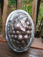Stunning antique Kitchen tin mold AAFA c.1880s-1900~Grapes design folk art~OOAK~