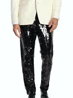 Burberry London Mens Size Small Black Sequin Pants Leg Zippers NWT MSRP $2995