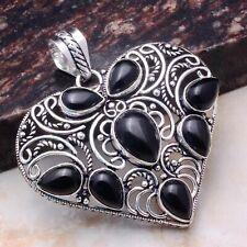 "Pendant Jewelry 2.2"" Ap 79827 Black Onyx Ethnic Gift Handmade Heart"