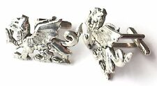 Wales Welsh Dragon Hand Made Pewter Cufflinks (N282) Gift Boxed