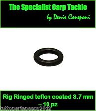 A0240 10 PZ 3,7 MM RIG RINGS TEFLON COATED CARPFISHING HAIR RIG BOILIES CARPA