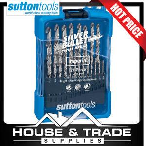 Sutton Tools Drill Bit Set 21 Piece Metal Wood Plastic Bright Finish D101S2