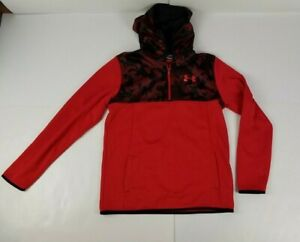 Under Armour Boy's Cold Gear Loose Red 1/4 Zip Size YXL Camo