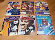 6 SPORTS ILLUSTRATED w/ SHAQUILLE O'NEAL 1992 / 1996 / 2000 / 2001 / 2002 / 2004