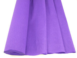 1 Violet Large Crepe Paper Roll  26metres x 50cm by clikkabox
