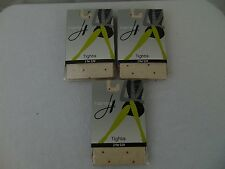 3 Pairs Hanes 0B760 Confetti Dot Tights Nude, Fuchsia, Purple Size Medium #1133