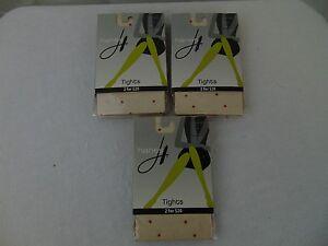 3 Pairs Hanes 0B760 Confetti Dot Tights Nude, Fuchsia, Purple Size Medium #1133