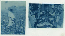 Two Vintage 1890's Cyanotype Photographs of Opium Growing in Southern China