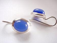 Chalcedony 925 Sterling Silver Wire Back Earrings Corona Sun Jewelry