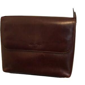 Gianni Conti Chestnut Leather Cross Body Bag