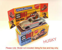 HUSKY - JAMES BOND - Superb custom display box and tray ONLY. Assembled