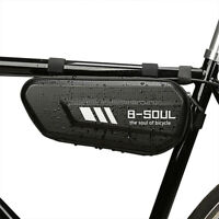 1* EVA Mountain Bike Hard Shell Triangle Bag Road Bicycle Front Frame Tube Pouch