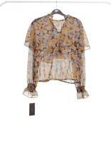 Zara long sleeve blouse CAPA T-SHIRT  lookbook fashion collection Floral Size M