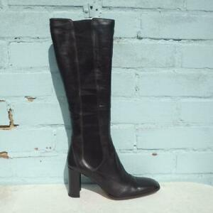Hobbs Leather Boots Boxed UK 6 Eu 39 Womens Elasticated Boyd Pull on Brown Boots