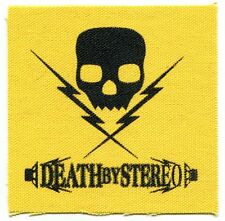 DEATH BY STEREO skull & bolts CLOTH PATCH **Free Shipping** sew-on punk