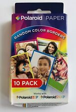 Instant Polaroid Film 10 Pack for ZIP & SNAP, Color Borders Instax Paper Papers