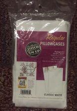 """Stitch 'Em Up Pillowcase Pair - Standard 20""""X30""""-White"" Cross Stitch Pallet"
