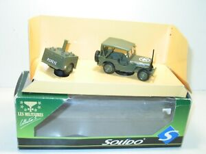 Solido Jeep Willys Tarpaulin With Trailer Kitchen Popeye, IN Box
