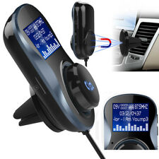 Car Bluetooth Wireless FM Transmitter + Air Vent Mount Phone Holder Charger Kit