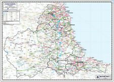 DURHAM COUNTY WALL MAP - LAMINATED EDITION - MAP SCALE 1:100.000