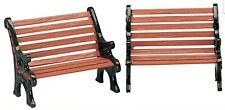 Lemax #34895 Village Accessories Park Bench Set Of 2 Nip