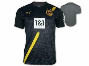 Puma BVB Auswärts-Trikot 20 21 schwarz Borussia Dortmund Away Shirt Jersey S-3XL