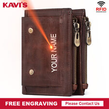100% Cowhide Multi functional  Genuine Leather Men Wallet Coin Purse Card Holder