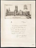 1926 - Litografia citazione l'arcivescovo di Canterbury - WW1