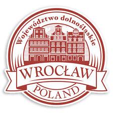 2 x 10cm Wroclaw Poland Vinyl Stickers - City Travel Luggage Sticker #30950