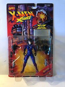 DOMINO X-MEN X-FORCE 1995 TOY BIZ FIGURE MOC