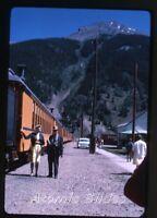 1965 Kodachrome photo slide D&RGW Railroad train  Colorado #2 Denver Rio Grande
