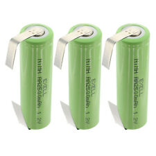 3x Exell AA Size 1.2V Rechargeable 2500mAh NiMH Batteries w/ Tabs FAST USA SHIP