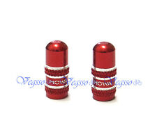 NEW MOWA ALLOY FRENCH TYPE PRESTA INNER TUBE VALVE CAPS 2pcs, RED