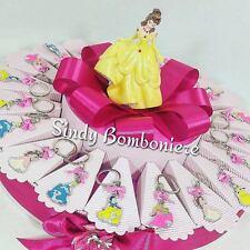 Torta bomboniera compleanno bimba principesse Disney portachiavi topper TBK20
