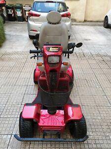 Scooter Elettrico 4 Ruote anziani e Disabili rosso marca Sovrana mod. Maxireale