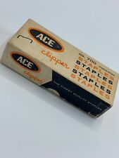 New listing Vintage Ace Clipper Heavy-Duty Undulated Chisel Point Staples 5000 Count #700