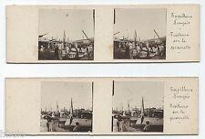 STC465 stereoview photo STEREO Vintage Lot de 2 amateur Algérie Torpilleur