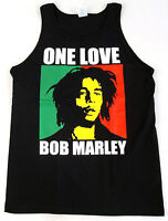 BOB MARLEY Tank Top T-shirt ONE LOVE Reggae Rasta Adult Mens Tee S-2XL Black New