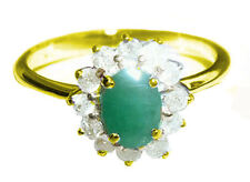 1.14ct Emerald & Diamond Ring in 14K Yellow Gold