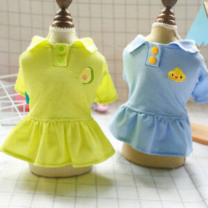 Small Medium Dog POLO Dress Pet Puppy Cat Summer Clothes Poodle Chihuahua Skirt