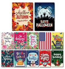 Seasonal Holiday Garden Flag Set of 12 Double Sided Premium Quality Autumn