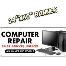 COMPUTER REPAIR BANNER smart phone tablet laptop all 24x60