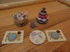 Fisher Price Loving Family Dollhouse Food Lot:Cupcakes, Plates, Bowl, Pitcher